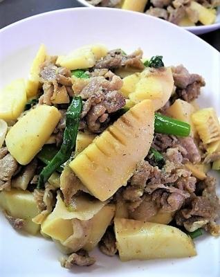 20180325筍と豚肉の含め煮