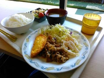 オムレツ生姜焼き定食