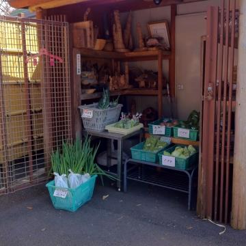 産直野菜コーナーも