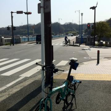高田橋で相模川を渡る