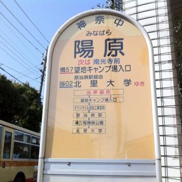 バス停表示に並ぶ旧名