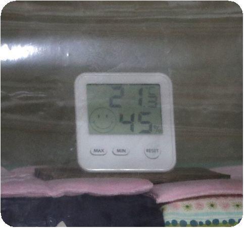 ①ハウス内の温度