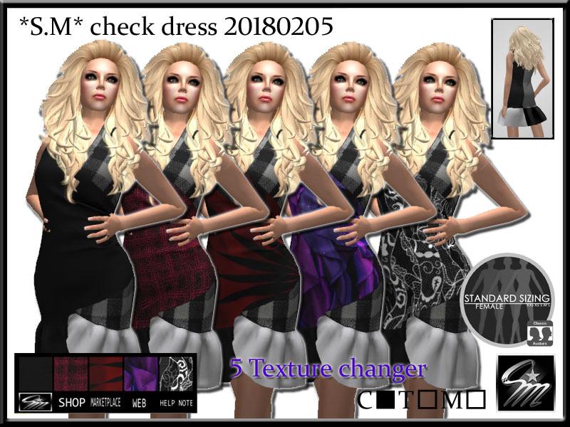 SM check dress 20180205