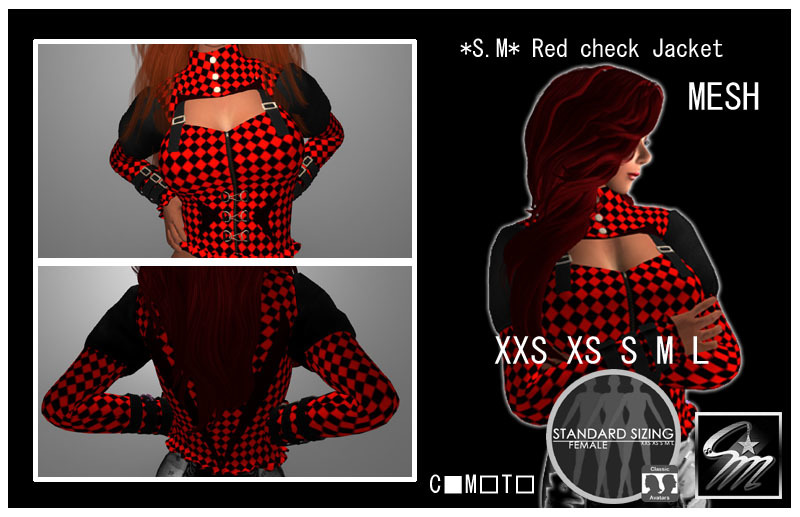 SM Red check Jacket