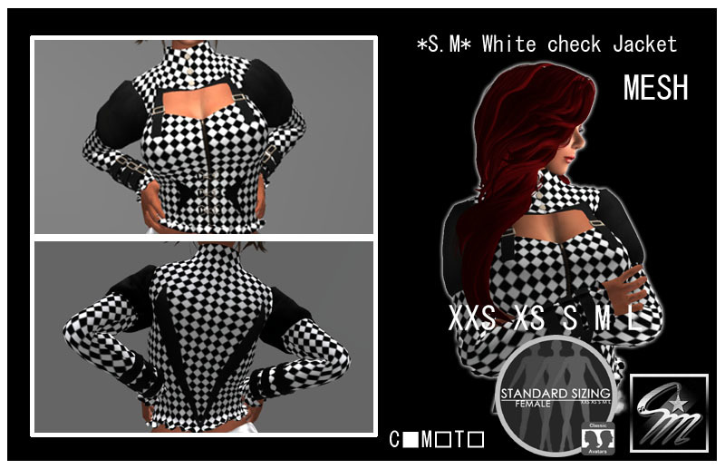 SM White check Jacket