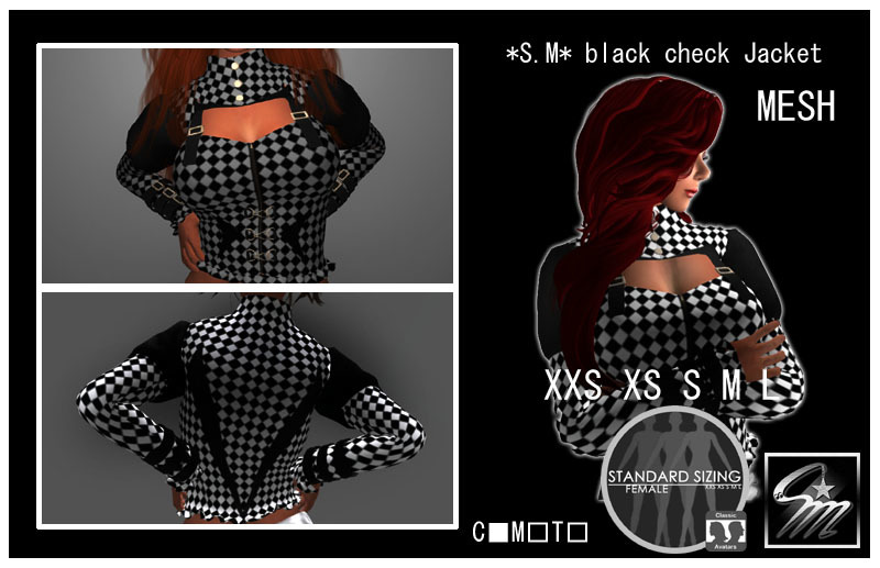 SM Black check Jacket