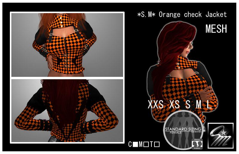 SM Orange check Jacket