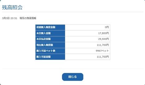残高照会(18.03.03)