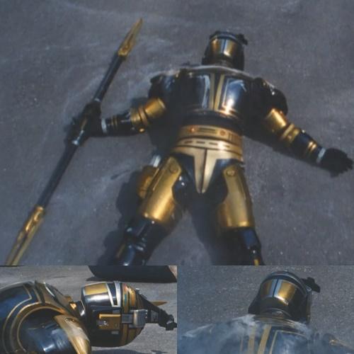 メタルヒーローのビーファイターカブトがやられて敗北