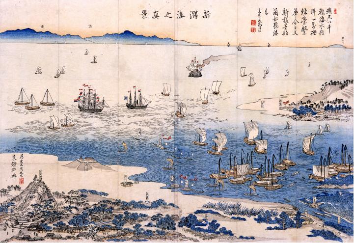 安政6年(1859)「新潟湊之真景」