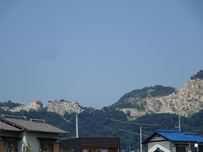 五剣山の石切場