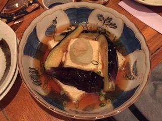 茄子と豆腐の揚げ出し
