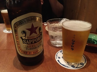 瓶ビール(サッポロラガー赤星 大瓶)