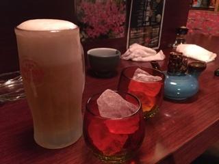 オリオン生と泡盛(新酒 一合)