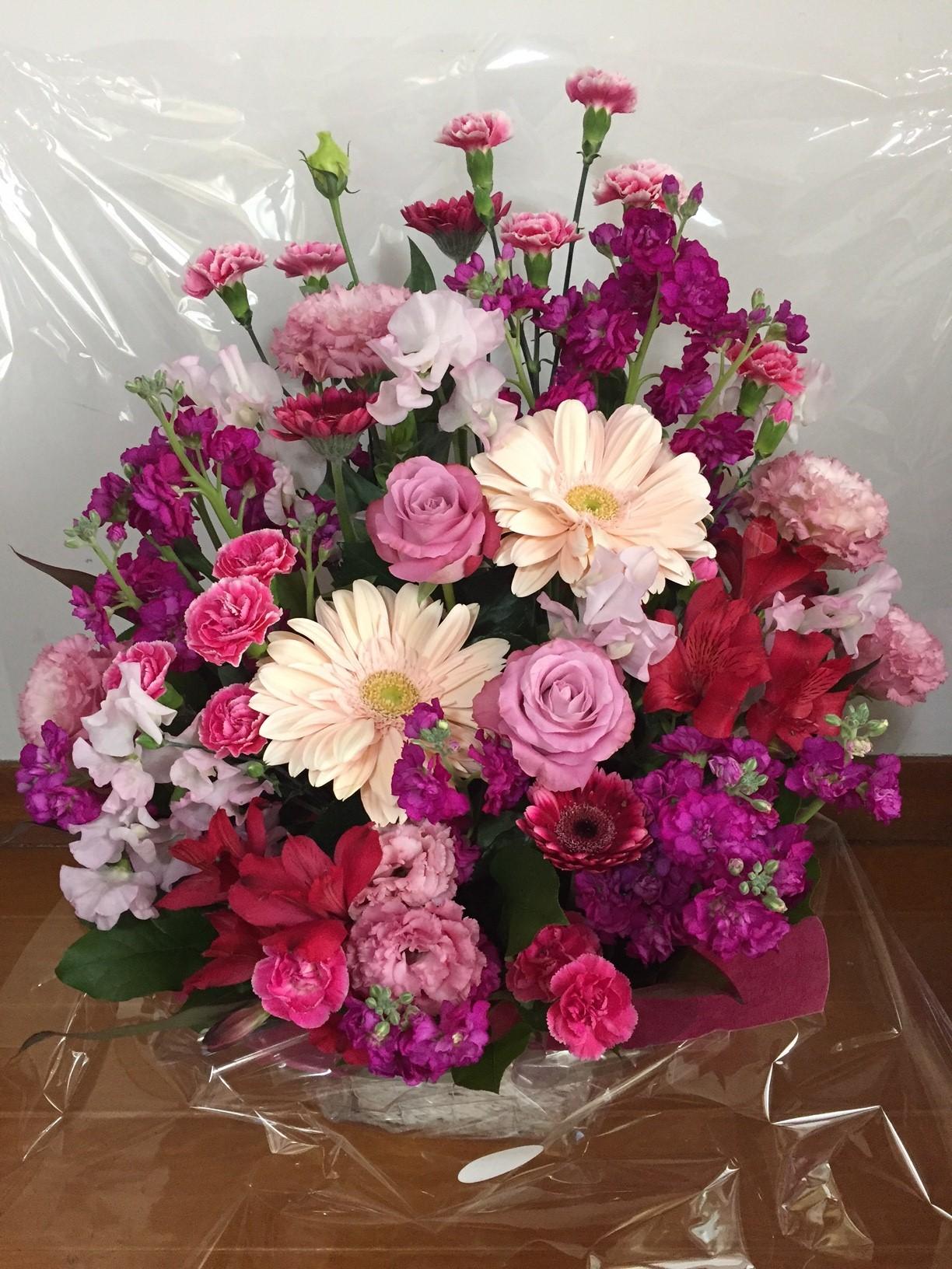 留学生一同による花束