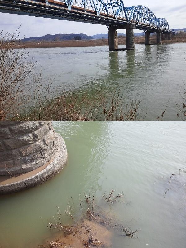 31日 米白橋 水位0.85