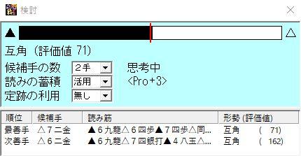 第67期棋王戦第5局 激指封じ手候補