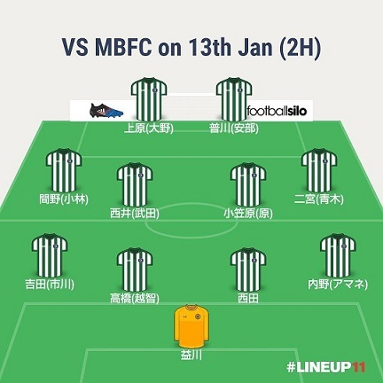17-18 Legal League 第14節 VS MBFC フォーメーション後半