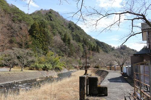 20180324昇仙峡 滝上市営駐車場付近の桜 (2)