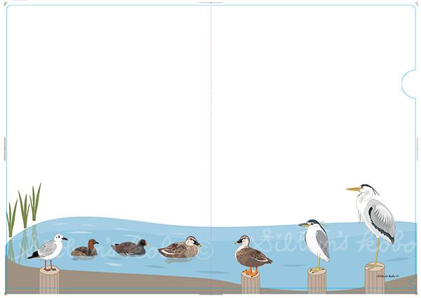 A4水鳥クリアファイル見本