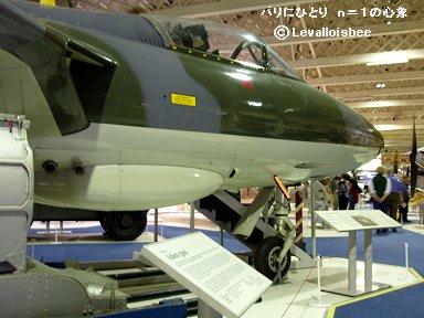 RAF博物館のハンター機首とインテークにシーホークの血がdownsize