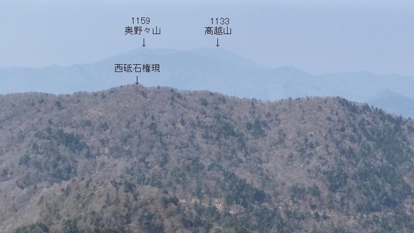 山頂から北方向