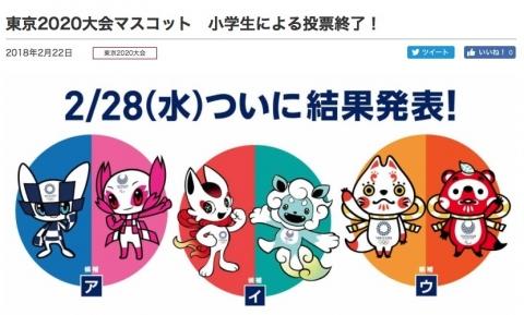 東京オリンピックのマスコットは?