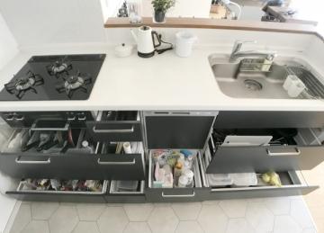 システムキッチの収納ルール