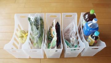 冷蔵庫と冷凍庫でファイルボックス収納