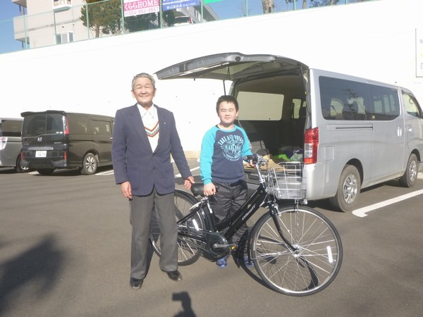 アサヒで自転車