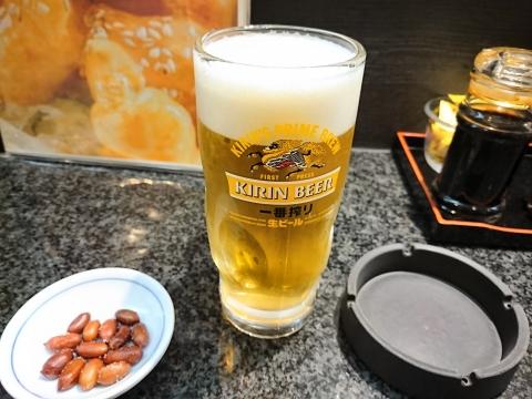 生ビール(中)@深井飯店