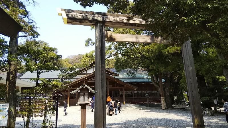 猿田彦神社鳥居1803