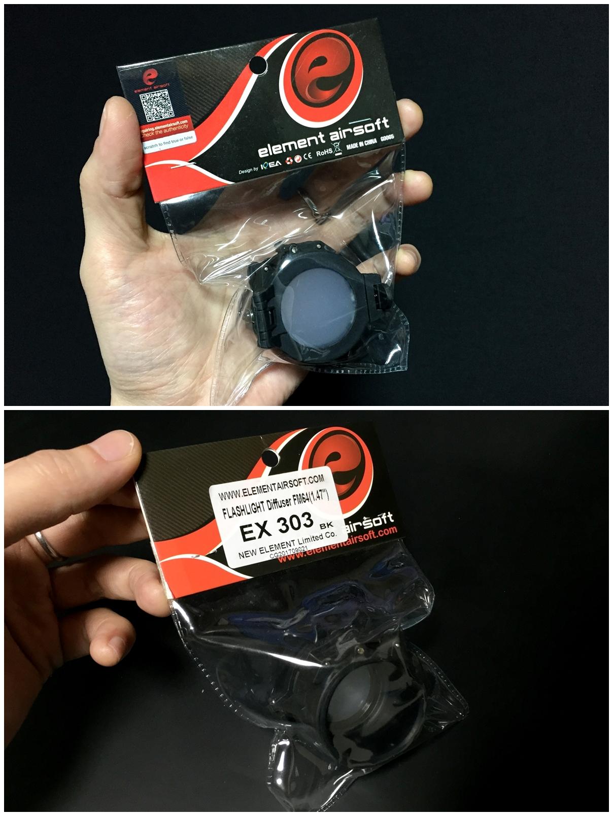 1 ELEMENT フラッシュライト ディフューザー フリップアップ式 カバー 1 47インチ 1 62インチ IRフィルター SUREFIRE タイプ レプリカ フラッシュライト カバー 比較 取付 加工 レビュー