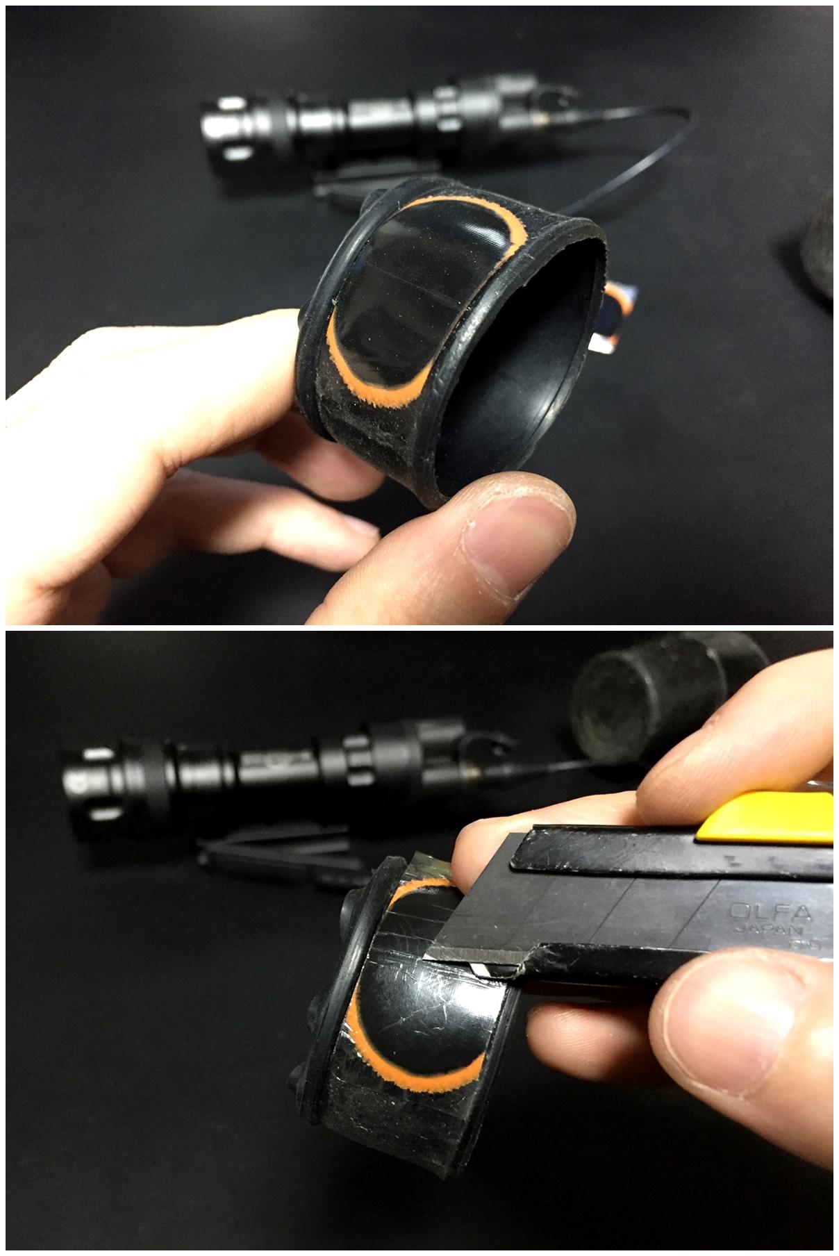 15 ELEMENT フラッシュライト ディフューザー フリップアップ式 カバー 1 47インチ 1 62インチ IRフィルター SUREFIRE タイプ レプリカ フラッシュライト カバー 比較 取付 加工 レビュー