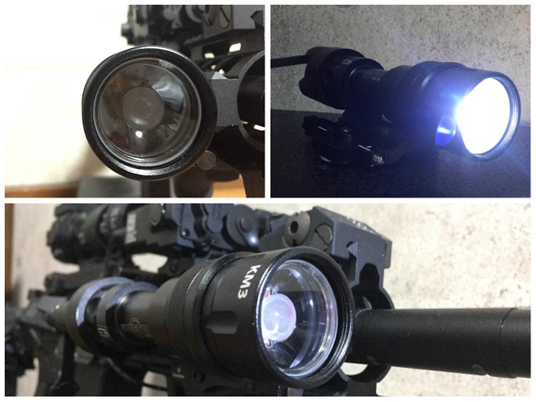 ハロゲンタイプ SUREFIRE M952V 実物 & レプリカ シュアファイア LED タクティカルライト 検証 比較 レビュー