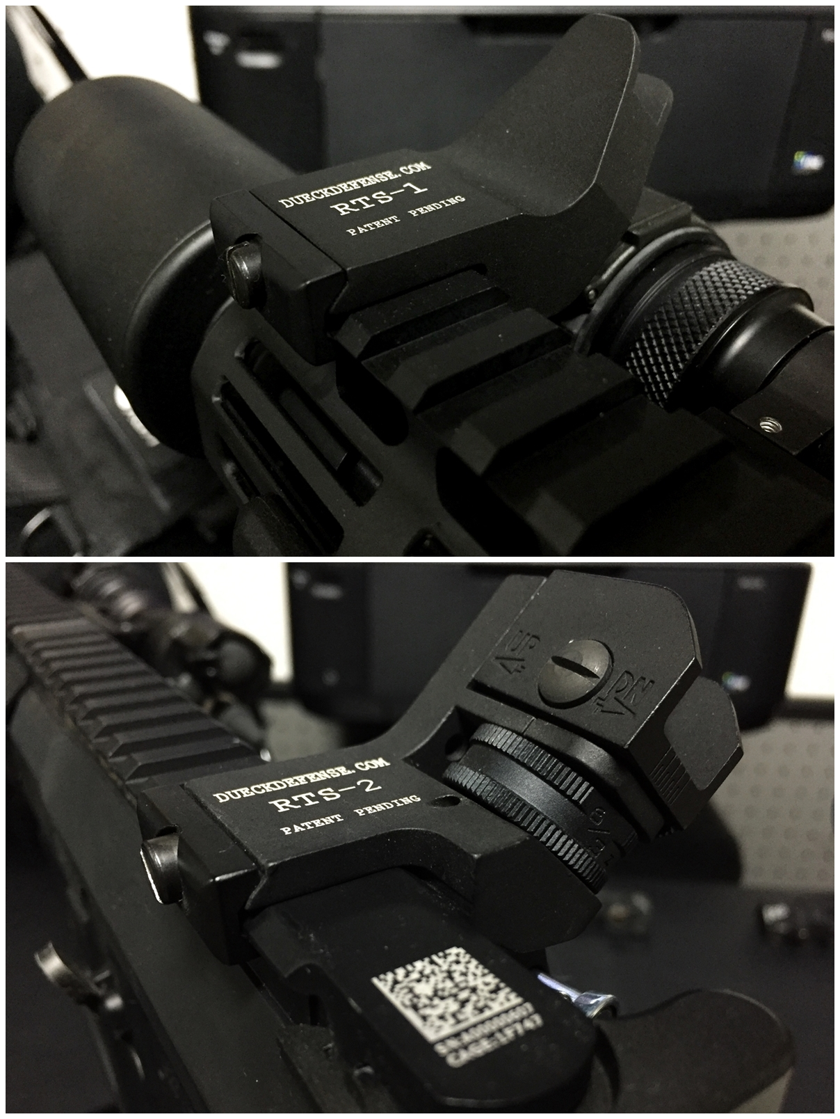 1 RAPID TRANSITION SIGHT FRONT & REAR DUECK DEFENSE TYPE ラピッドトランジションサイト オフセットサイト カスタム 取付 実物 レプリカ 比較