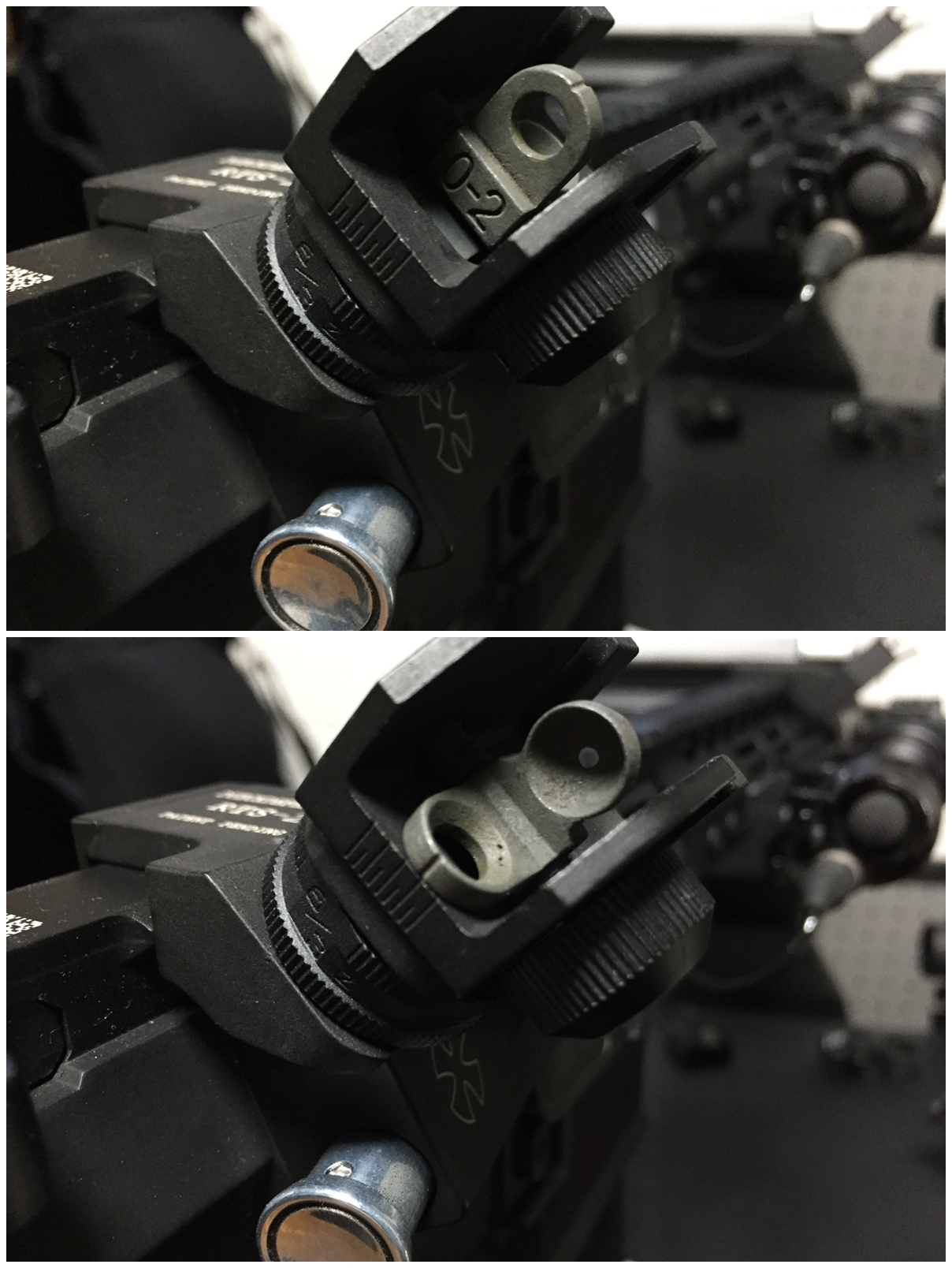 5 RAPID TRANSITION SIGHT FRONT & REAR DUECK DEFENSE TYPE ラピッドトランジションサイト オフセットサイト カスタム 取付 実物 レプリカ 比較