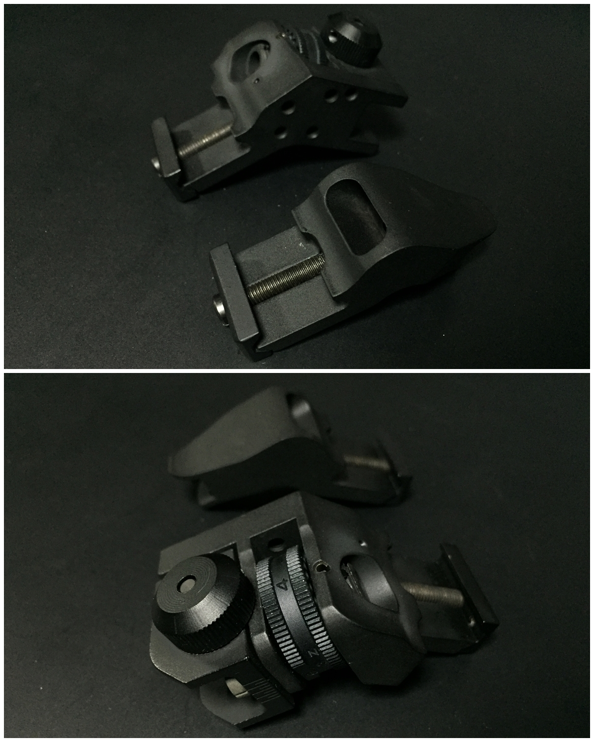 7 RAPID TRANSITION SIGHT FRONT & REAR DUECK DEFENSE TYPE ラピッドトランジションサイト オフセットサイト カスタム 取付 実物 レプリカ 比較