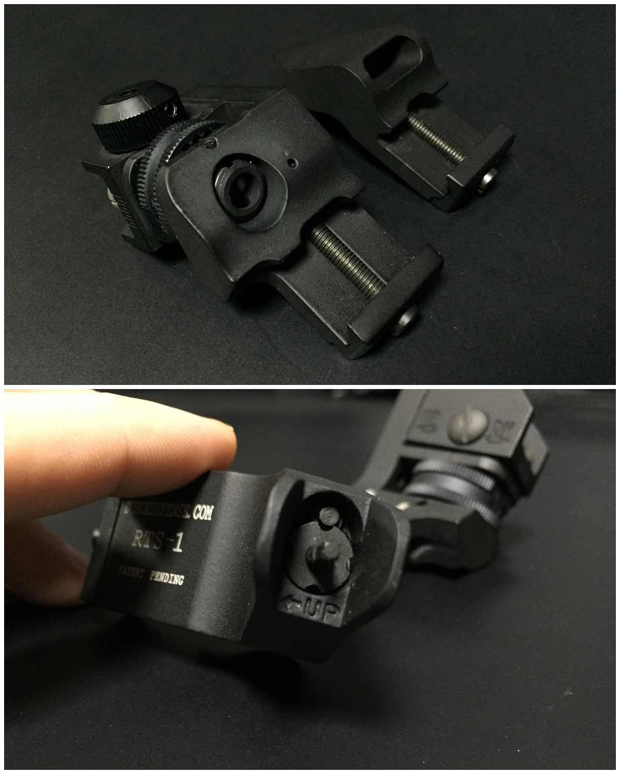 8 RAPID TRANSITION SIGHT FRONT & REAR DUECK DEFENSE TYPE ラピッドトランジションサイト オフセットサイト カスタム 取付 実物 レプリカ 比較
