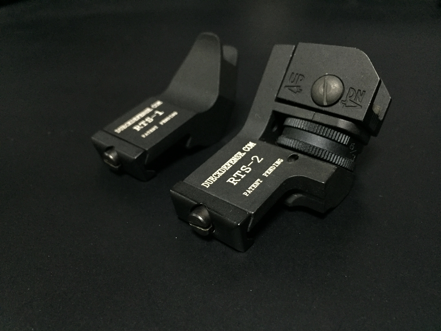 10 RAPID TRANSITION SIGHT FRONT & REAR DUECK DEFENSE TYPE ラピッドトランジションサイト オフセットサイト カスタム 取付 実物 レプリカ 比較