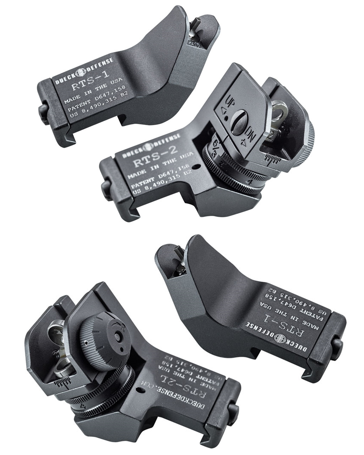 11 RAPID TRANSITION SIGHT FRONT & REAR DUECK DEFENSE TYPE ランジションサイト オフセットサイト カスタム 取付 実物 レプリカ 比較 レビュー