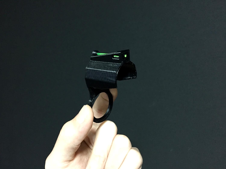 11 MARUZEN CA870 FIBER FRONT SIGHT HILOG ORIGINAL 3D 集光 ファイバー フロント サイト 設計 自作 DIY 取付 カスタム レビュー