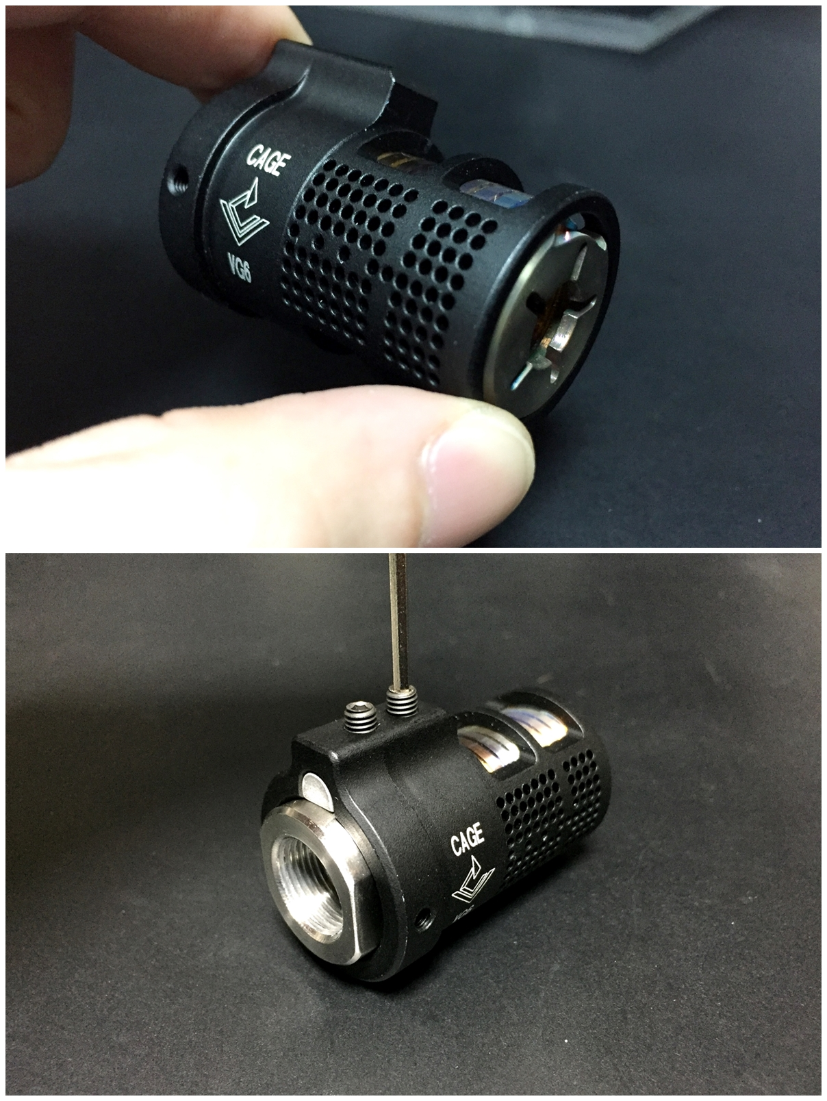 7 VG6 Precision CAGE Device TYPE フラッシュ ハイダー ブラストシールド オプション カバー 購入 開封 比較 実物 レプリカ レビュー