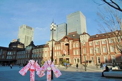 東京駅の広場です