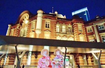 夜の東京駅です3