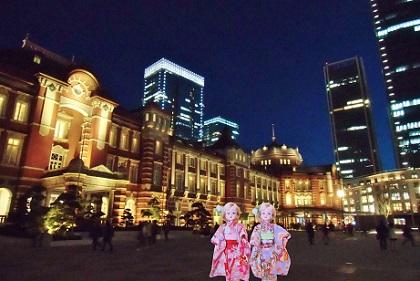 夜の東京駅です2