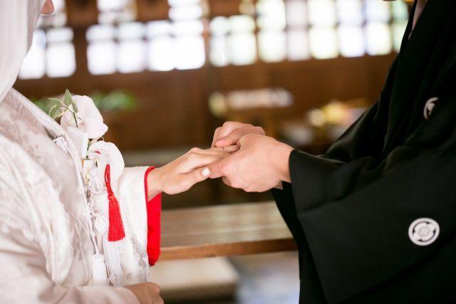 指環の交換 結婚式