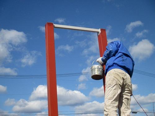 29グレーのサビ止めで下塗りです IMG_1350