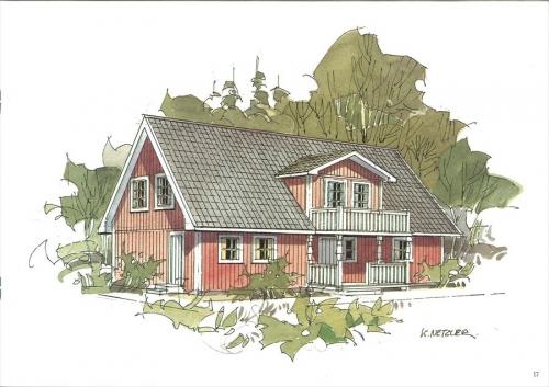 スウェーデンホーム スウェーデンの家の絵 (2)