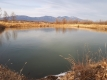 また全面結氷したため池